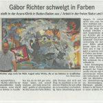 Gábor Richter schwelgt in Farben