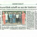 Acura Kliniken schafft es aus der Insolvenz!