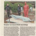 """""""Skulptur vor Acura-Klinik beschädigt"""""""