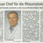 Unser neuer Chefarzt für die Rheumatologie - Dr. Olaf Schultz